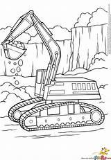 Coloring Excavator Bulldozer Printable Coloriage Dessin Pelleteuse Bagger Imprimer Blippi Construction Ausmalbilder Malvorlagen Pelle Kleurplaat Shovel Digger Transportation Zum Tractopelle sketch template