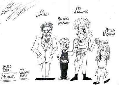 Matilda Roald Dahl Morteneng21 Books Fan Cartoons