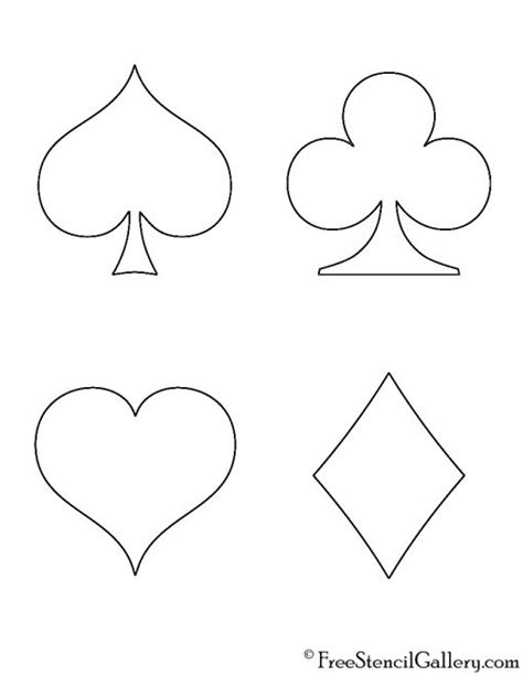 Playing Card Suits Stencil Free Stencil Gallery