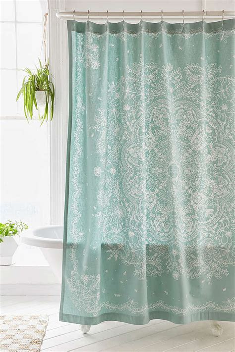 teal shower curtain shower curtains everything turquoise