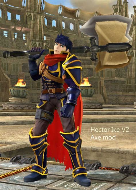 ike hector fe  axe super smash bros wii  skin mods