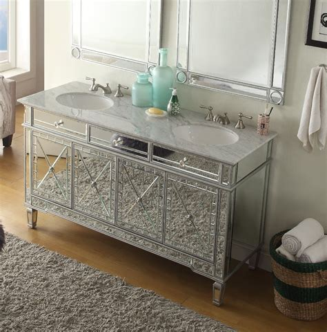 Mirrored Bathroom Vanity Cabinets by 60 Inch Sink Bathroom Vanity Deco Mirrored