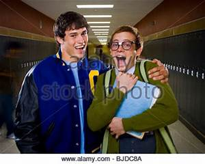 High School Jock and a Nerd Stock Photo, Royalty Free ...