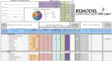 renovation spreadsheet home renovation budget spreadsheet
