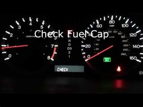 honda check fuel cap accord  youtube