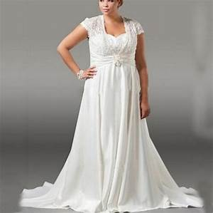 plus size ivory long chiffon wedding dresses a line With plus size ivory wedding dresses