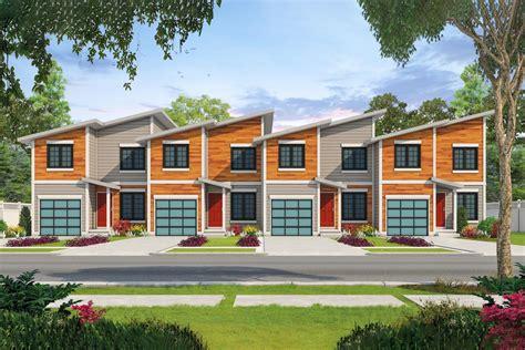 modern  plex house plan   bedroom units db