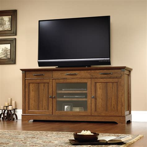 sauder credenza tv stand sauder carson forge credenza tv stand console tables at