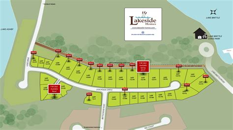 13c Site Map Sold Signs011917  Lakeside Homeslakeside