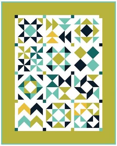Triangle Quilt Half Square Block Month Blocks