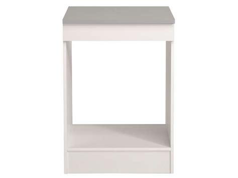 meuble bas 60 cm four plaque spoon coloris blanc vente de meuble bas conforama