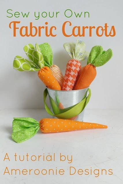 tutorial easy fabric carrots sewing