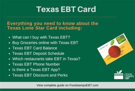 texas card ebt questions lone star stamps guide
