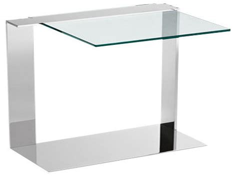 Clear Side Tables, Tall Narrow Side Table Glass Tall