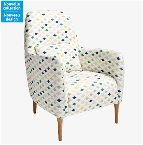 daborn fauteuil en tissu blanc 224 motifs japon fauteuil habitat ventes pas cher