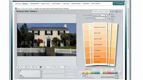 how to use the benjamin moore color picker to select house