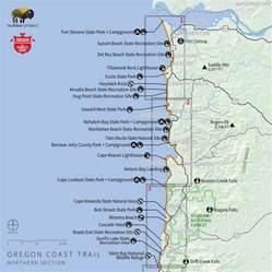28 oregon coast trail map oregon coast trail series