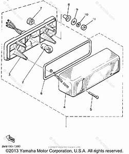 Yamaha Snowmobile 1986 Oem Parts Diagram For Taillight