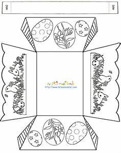 Bricolage De Paques Panier : panier de p ques rectangulaire colorier ~ Melissatoandfro.com Idées de Décoration