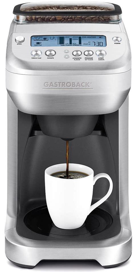 gastroback kaffeemaschine mit mahlwerk gastroback kaffeemaschine design coffee advanced silber
