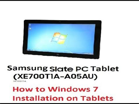 how to install windows 7 on samsung xe700t1a tablet urdu