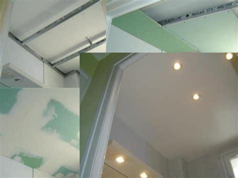 faux plafond salle de bain placo