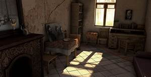 interior scene set modeling old house by trelderanx on With interior decoration of old house