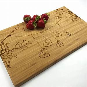 cutting board personalized wedding gift blended family names With personalized cutting board wedding gift