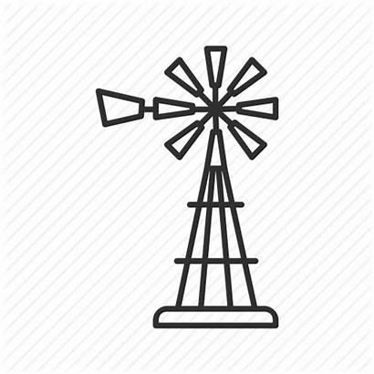 Windmill Farm Wind Mill Drawing Icon Propeller