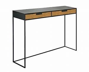 Console A Tiroir : console m tal bois 2 tiroirs design sur mesure ~ Teatrodelosmanantiales.com Idées de Décoration