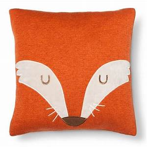 fox square throw pillow 14quotx14quot orange pillowfort target With best place to shop for throw pillows