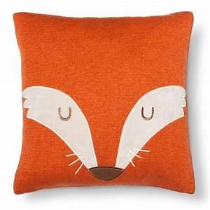 "Fox Square Throw Pillow (14""X14"") Orange - Pillowfort : Target"