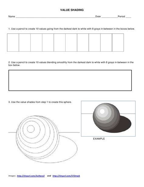 value shading worksheet