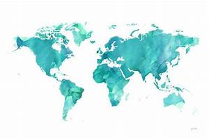 World watercolor Map, printable file (JPEG) download and