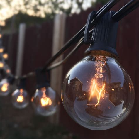string lights   clear globe bulbs ul listed