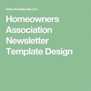 Homeowners Association Newsletter Template Design