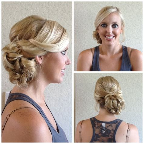 wedding hair side bun exquisite reflections