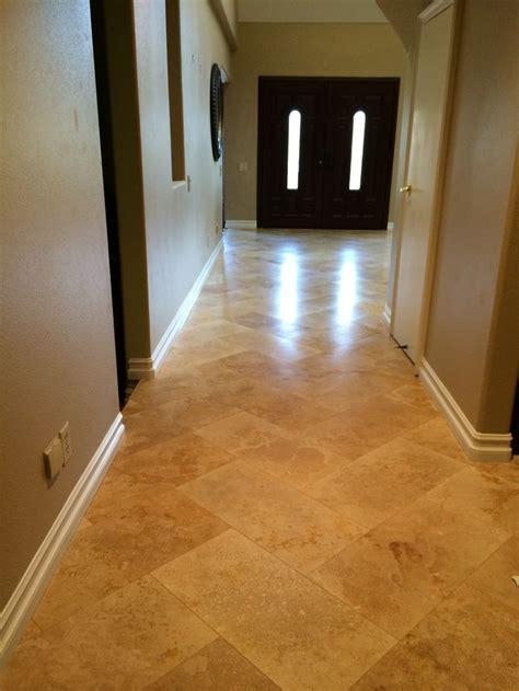 travertine  herringbone tile layout tile floor