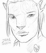 Avatar Jake Sully Coloring Sketch Template Deviantart Larger Credit sketch template
