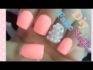 DIY EASY fake n... Fake Nails