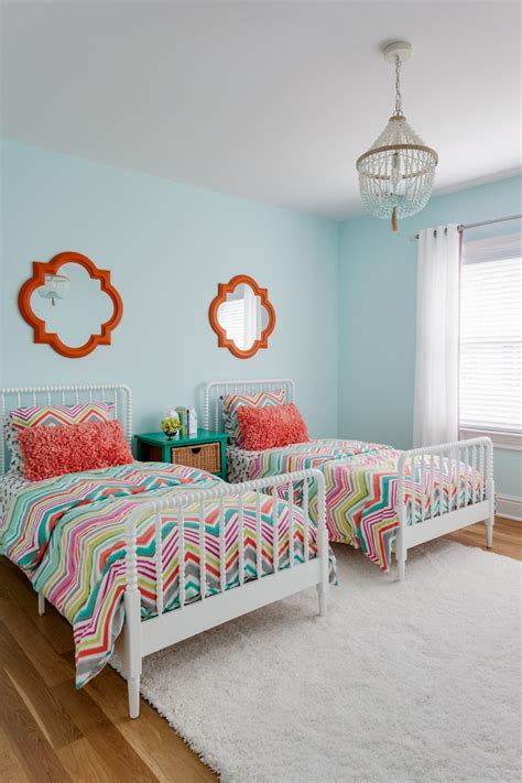Decorating Ideas For Girls Bedrooms - staggering coral teal bedding decorating ideas
