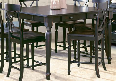 counter height dining room table sets benchwright bar height table rustic mahogany dining room