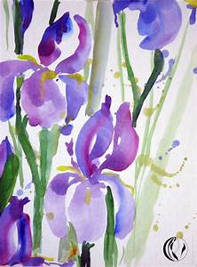 Aquarell Malen Blumen : aquarell iris violett malen am meer ~ Articles-book.com Haus und Dekorationen