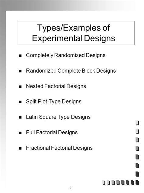 experimental design exles experimental design response surface analysis and