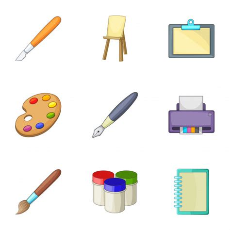Writing Tools by Drawing And Writing Tools Set Style Vector