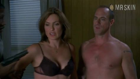 mariska hargitay in bra on law and order svu