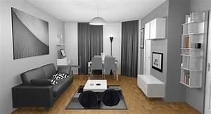 Idée Peinture Salon Noir Et Blanc. idee peinture entree couloir 10 ...