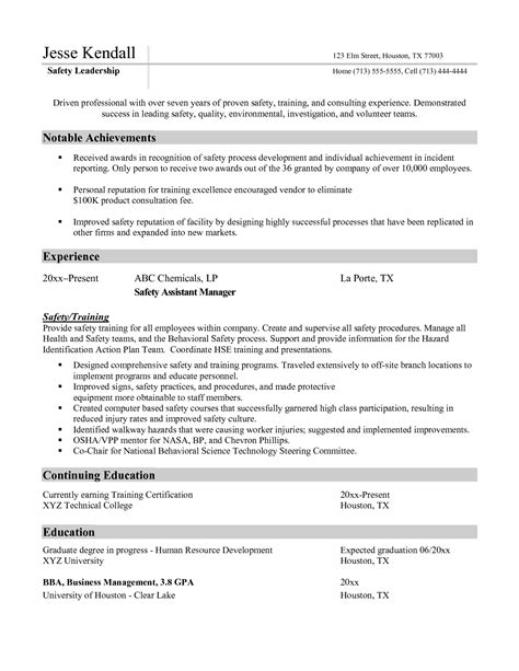 construction safety officer resume 100 100 academic program director resume 100 a sle resume a sle combination resume