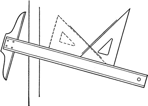 drawing perpendicular lines   square  triangle
