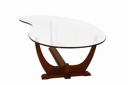 Coffee Table Modern Glass Mid Century Walnut